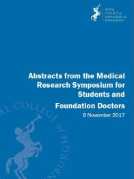 Medical Research Symposium abstracts 2017
