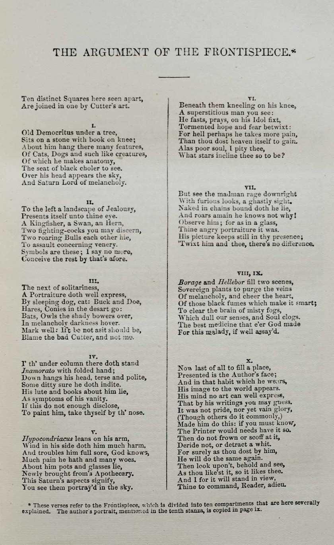 Robert Burton\'s The Anatomy of Melancholy | Royal College of ...