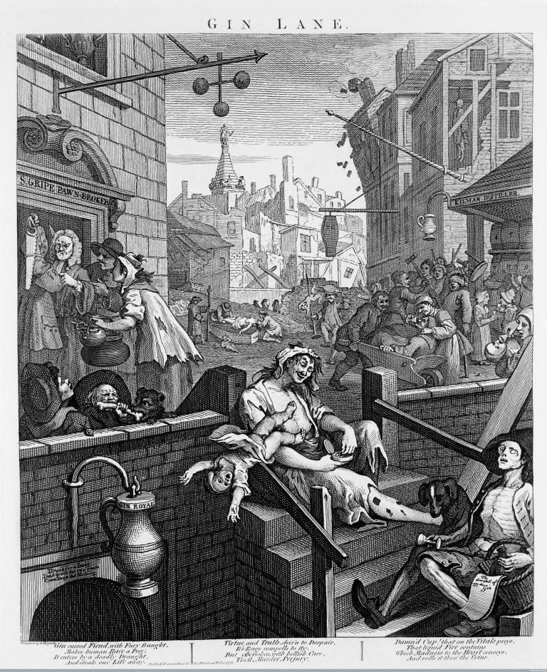 William Hogarth, Gin Lane