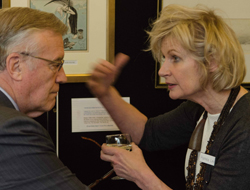 A lively conversation at the Guest Lunch Exhibition, 2015