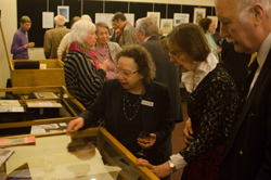 Showing geological specimens - Annual Guest Lunch Exhibition, 2015